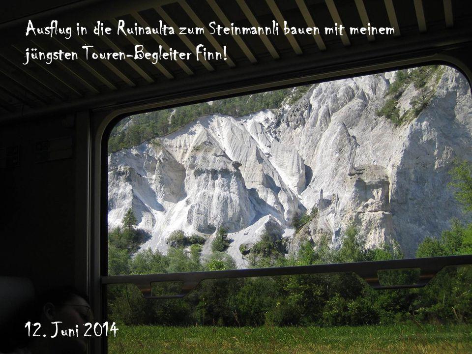 Ausflug in die Ruinaulta zum Steinmannli bauen mit meinem jüngsten Touren-Begleiter Finn.