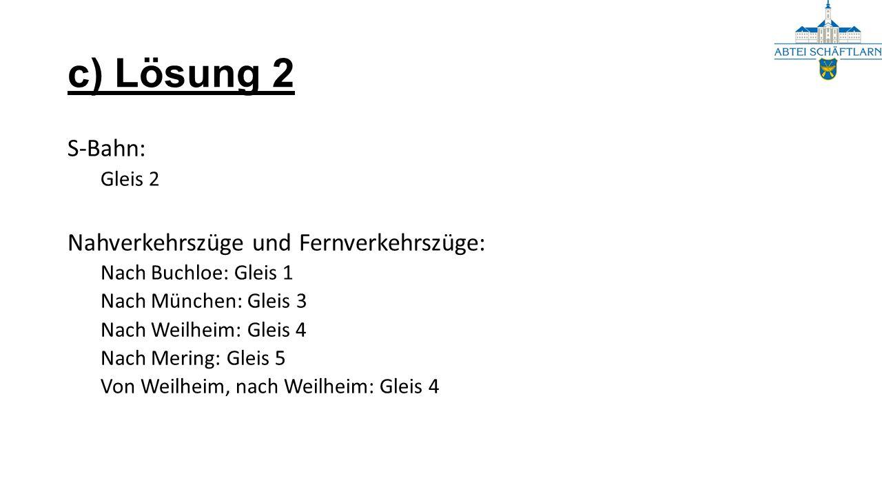 S-Bahn: Gleis 2 Nahverkehrszüge und Fernverkehrszüge: Nach Buchloe: Gleis 1 Nach München: Gleis 3 Nach Weilheim: Gleis 4 Nach Mering: Gleis 5 Von Weilheim, nach Weilheim: Gleis 4