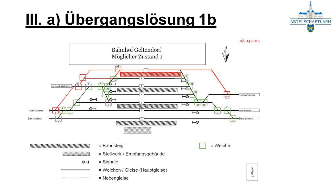 III. a) Übergangslösung 1b