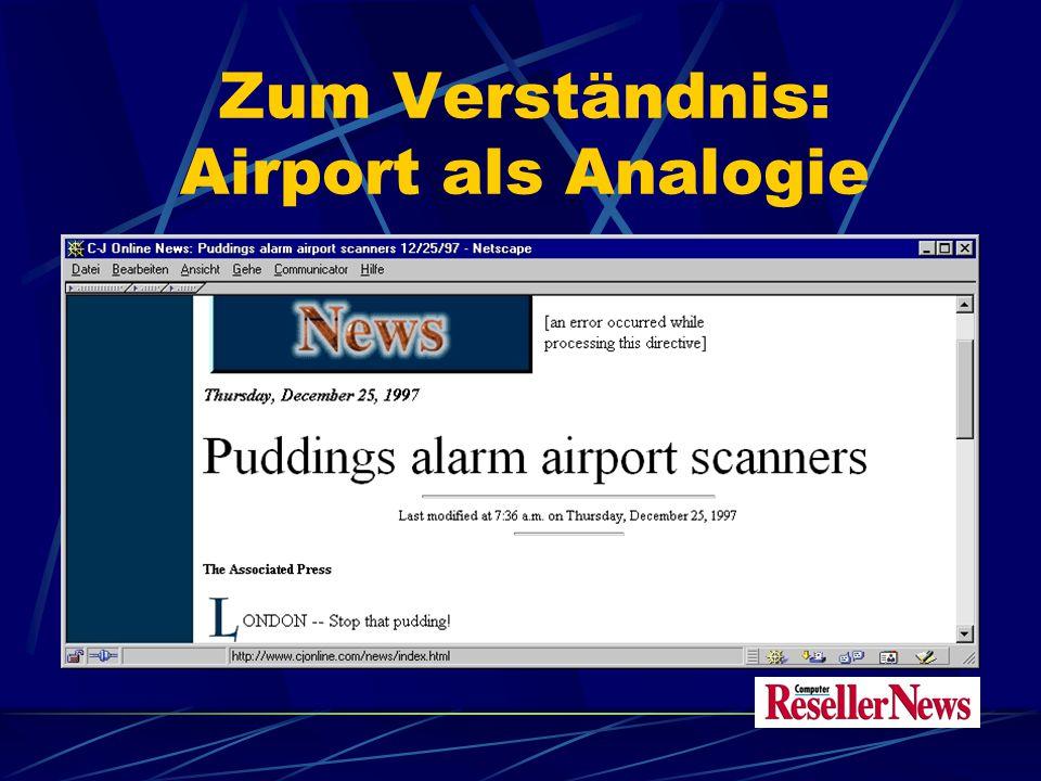 Zum Verständnis: Airport als Analogie Einige Regeln der Gepäck-Kontrolle am Flughafen sind übertragbar Charakteristische Unterschiede zeigen die Grenzen und Möglichkeiten von Content Security