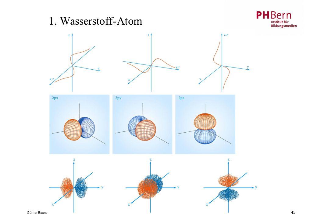 Günter Baars 45 1. Wasserstoff-Atom