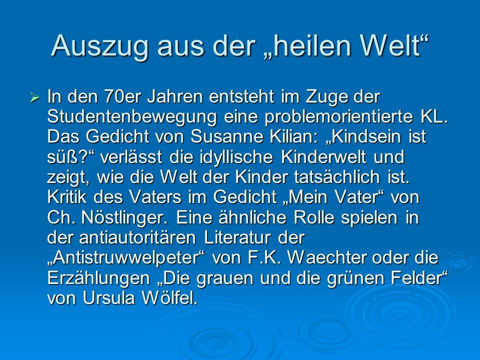 Problemliteratur für junge Leser / Problemfelder  Nach Michael Sahr (emeritierter Hochschuldozent):  Umwelt und Naturschutz: Die Wolke/G.