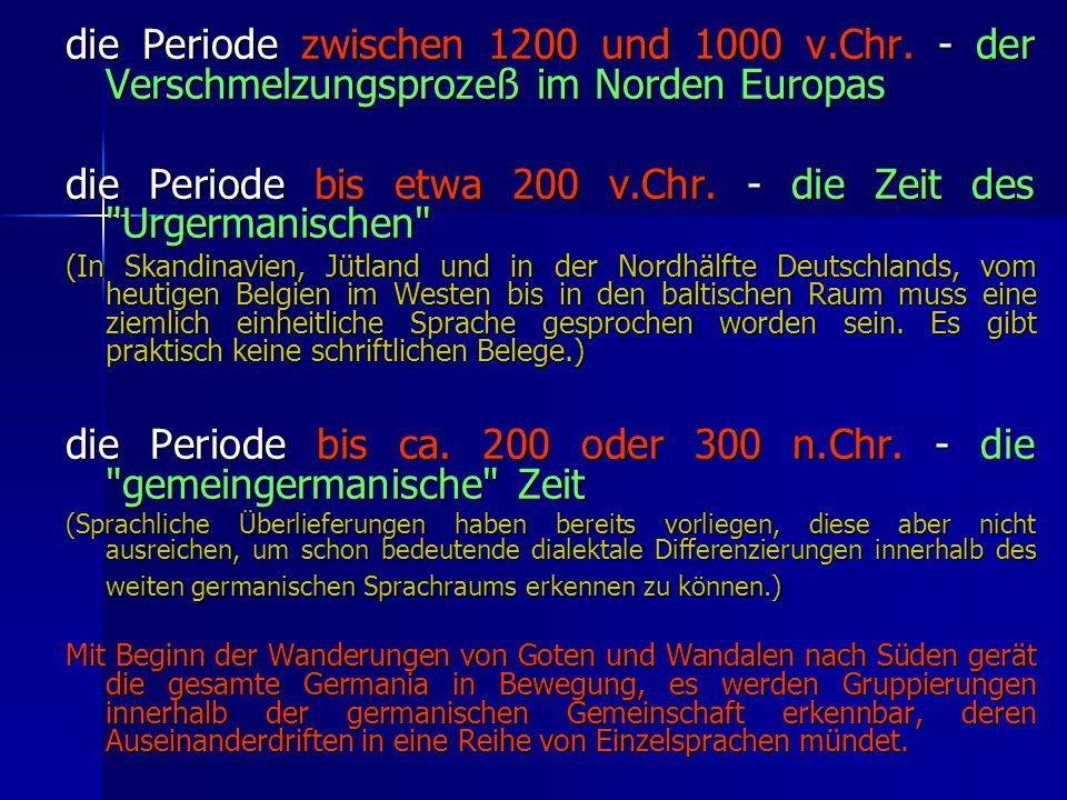 die Periode zwischen 1200 und 1000 v.Chr.