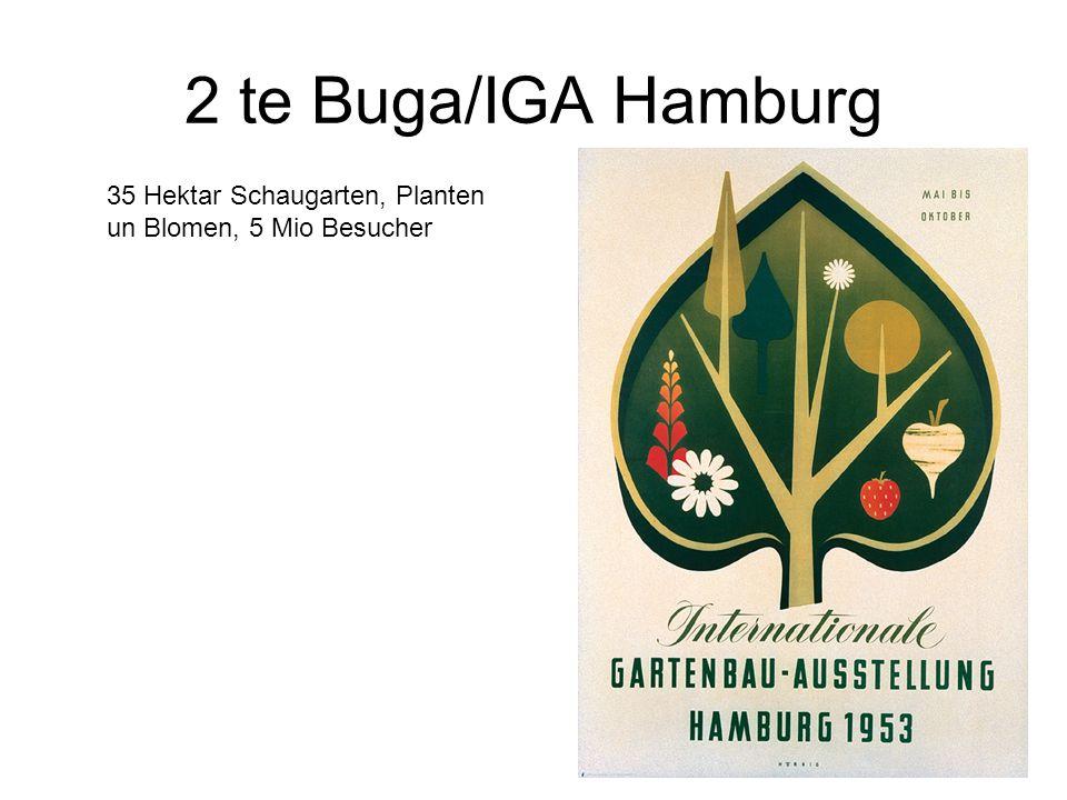 2 te Buga/IGA Hamburg 35 Hektar Schaugarten, Planten un Blomen, 5 Mio Besucher