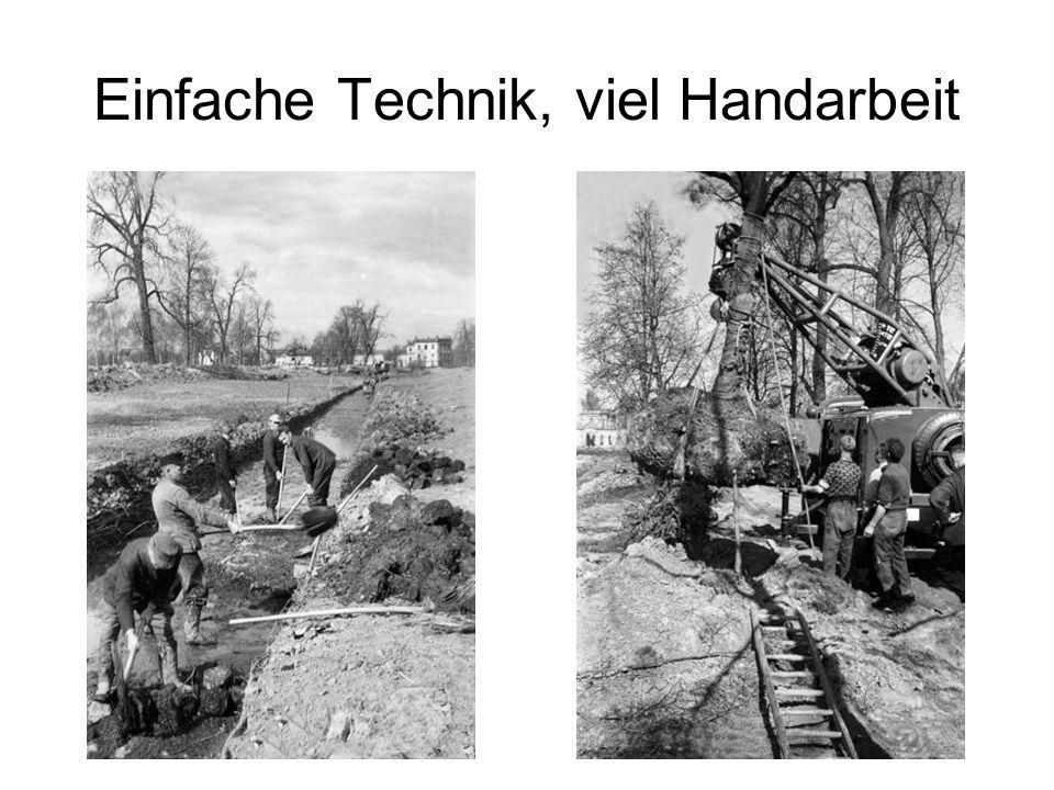 Einfache Technik, viel Handarbeit