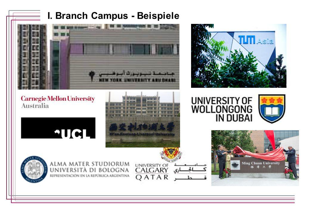 I. Branch Campus - Beispiele