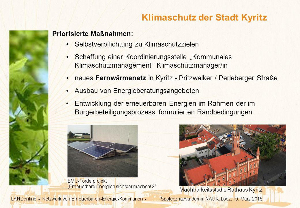 """Priorisierte Maßnahmen: Selbstverpflichtung zu Klimaschutzzielen Schaffung einer Koordinierungsstelle """"Kommunales Klimaschutzmanagement"""" Klimaschutzma"""