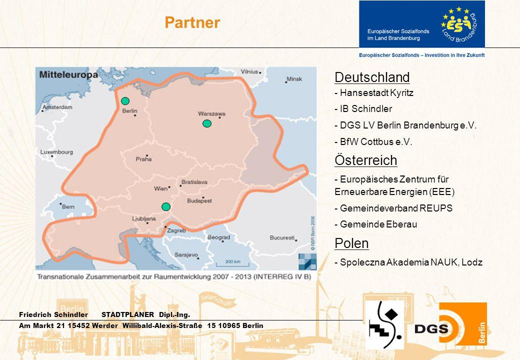 Friedrich Schindler STADTPLANER Dipl.-Ing. Am Markt 21 15452 Werder Willibald-Alexis-Straße 15 10965 Berlin Partner Deutschland - Hansestadt Kyritz -