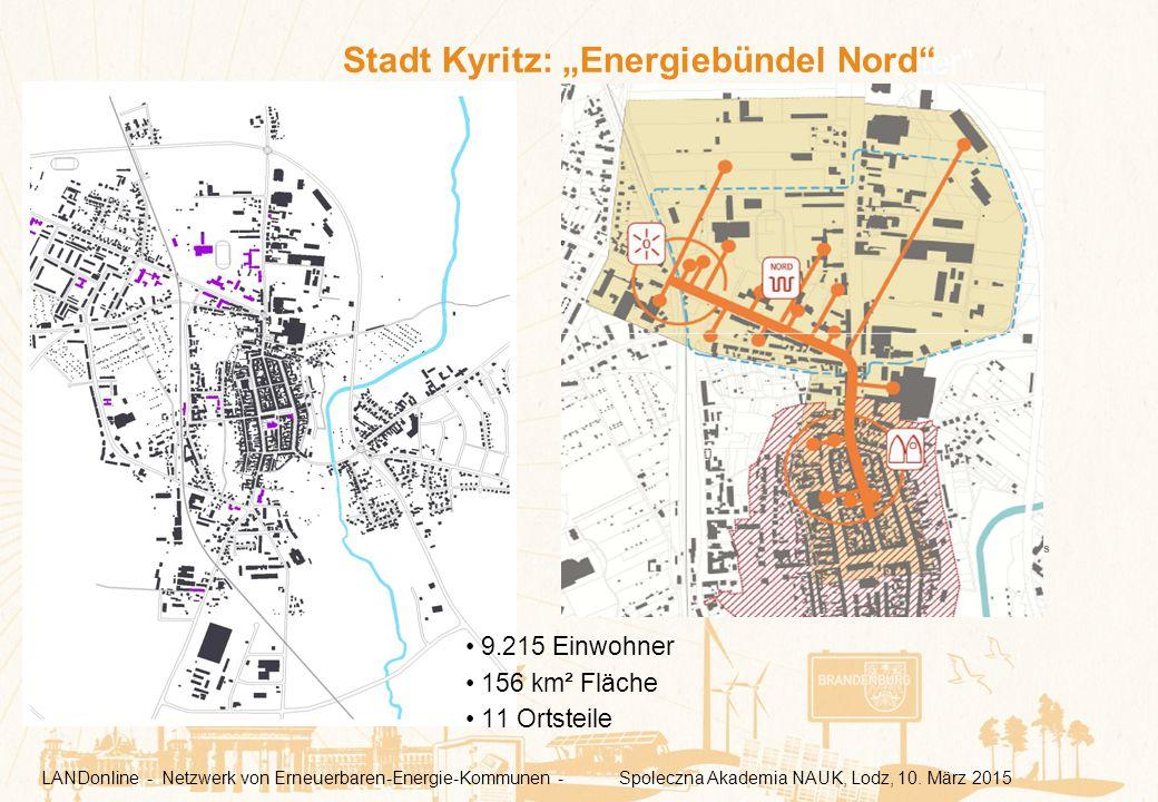 """Kyritz an der """"Knatter"""" 9.215 Einwohner 156 km² Fläche 11 Ortsteile Quelle: ews LANDonline - Netzwerk von Erneuerbaren-Energie-Kommunen - Spoleczna Ak"""