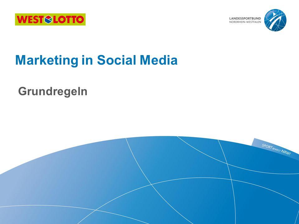 Grundregeln Marketing in Social Media