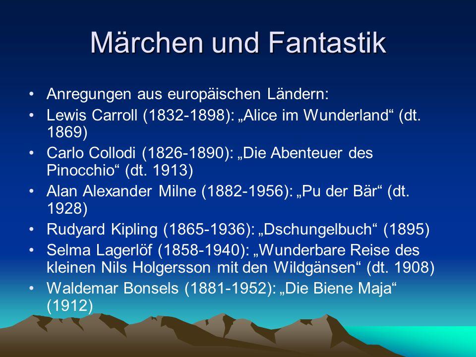 """Märchen und Fantastik Anregungen aus europäischen Ländern: Lewis Carroll (1832-1898): """"Alice im Wunderland"""" (dt. 1869) Carlo Collodi (1826-1890): """"Die"""