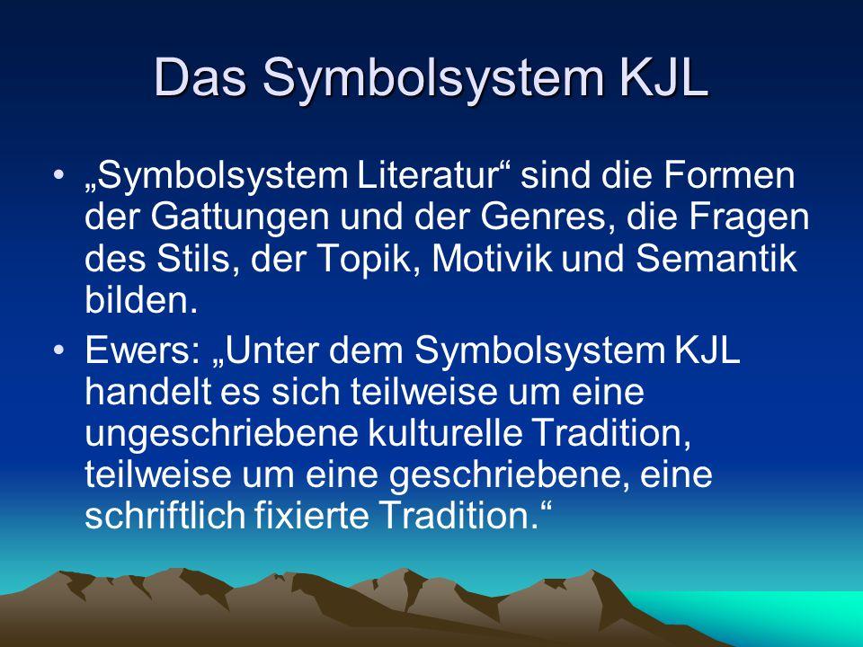 """Das Symbolsystem KJL """"Symbolsystem Literatur"""" sind die Formen der Gattungen und der Genres, die Fragen des Stils, der Topik, Motivik und Semantik bild"""