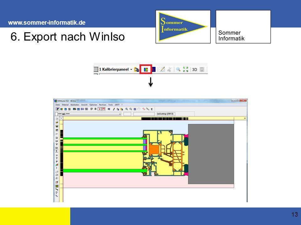 www.sommer-informatik.de 13 6. Export nach WinIso