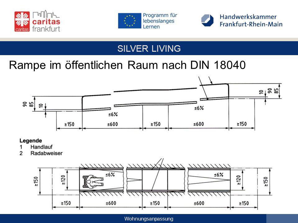 SILVER LIVING Wohnungsanpassung Rampe im öffentlichen Raum nach DIN 18040