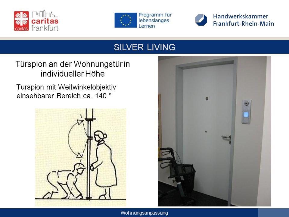 SILVER LIVING Wohnungsanpassung Türspion an der Wohnungstür in individueller Höhe Türspion mit Weitwinkelobjektiv einsehbarer Bereich ca. 140 °