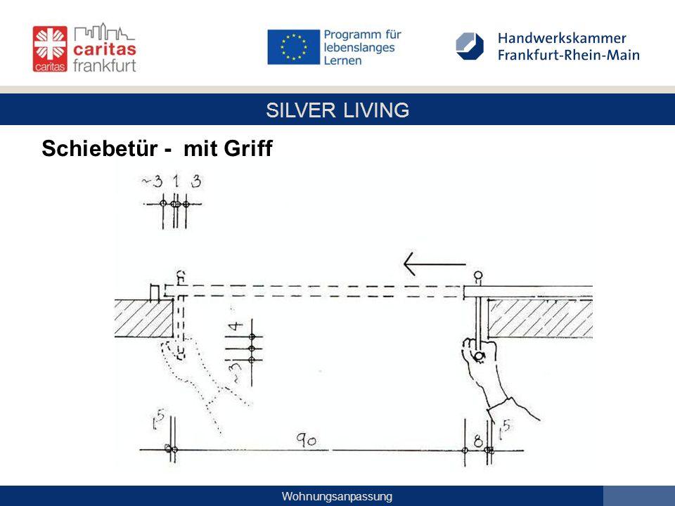 SILVER LIVING Wohnungsanpassung Schiebetür - mit Griff