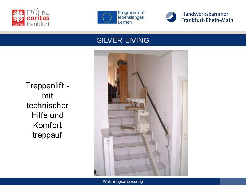 SILVER LIVING Wohnungsanpassung Treppenlift - mit technischer Hilfe und Komfort treppauf