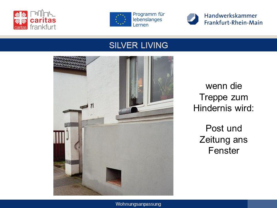 SILVER LIVING Wohnungsanpassung wenn die Treppe zum Hindernis wird: Post und Zeitung ans Fenster