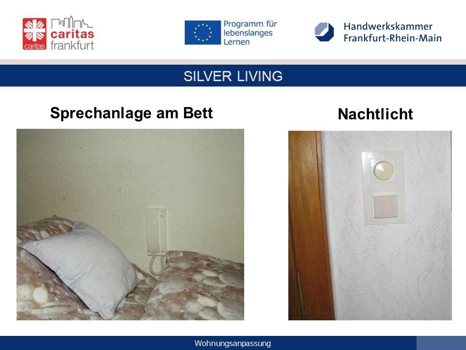 SILVER LIVING Wohnungsanpassung Sprechanlage am Bett Nachtlicht