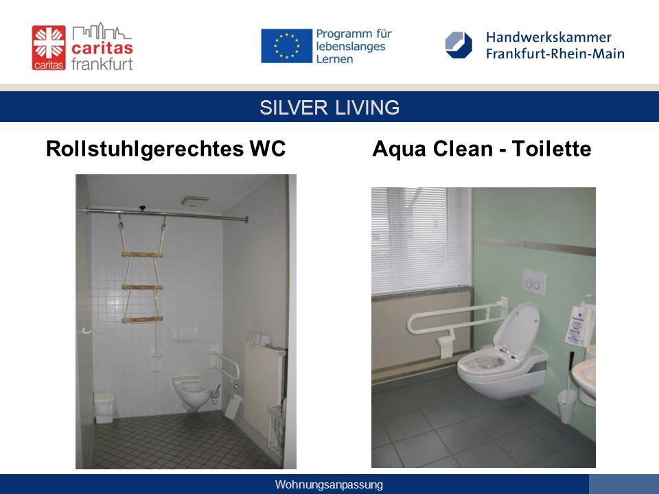 SILVER LIVING Wohnungsanpassung Rollstuhlgerechtes WC Aqua Clean - Toilette