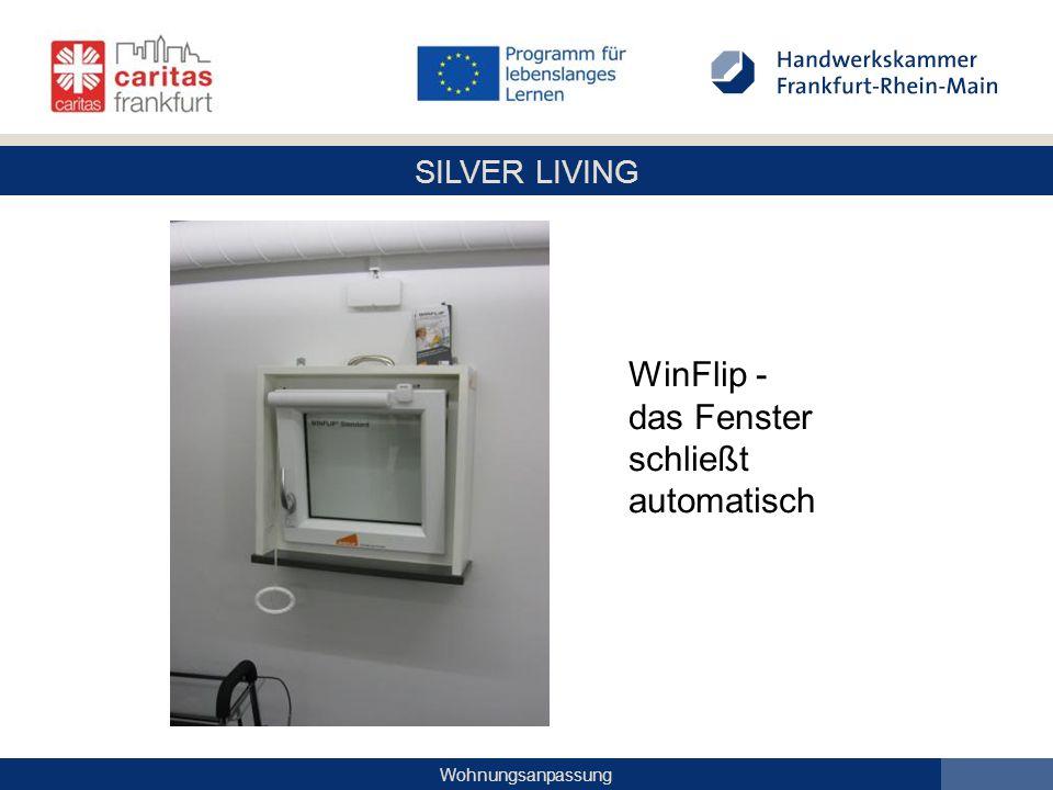 SILVER LIVING Wohnungsanpassung WinFlip - das Fenster schließt automatisch