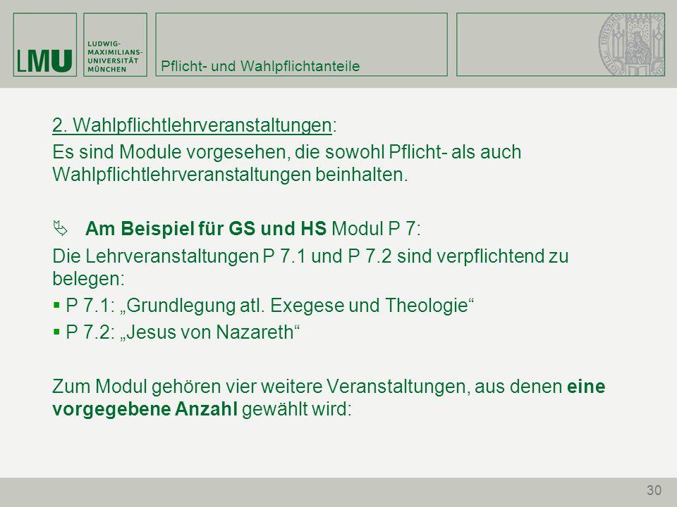 30 Pflicht- und Wahlpflichtanteile 2.