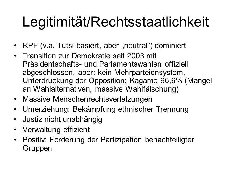 Legitimität/Rechtsstaatlichkeit RPF (v.a.