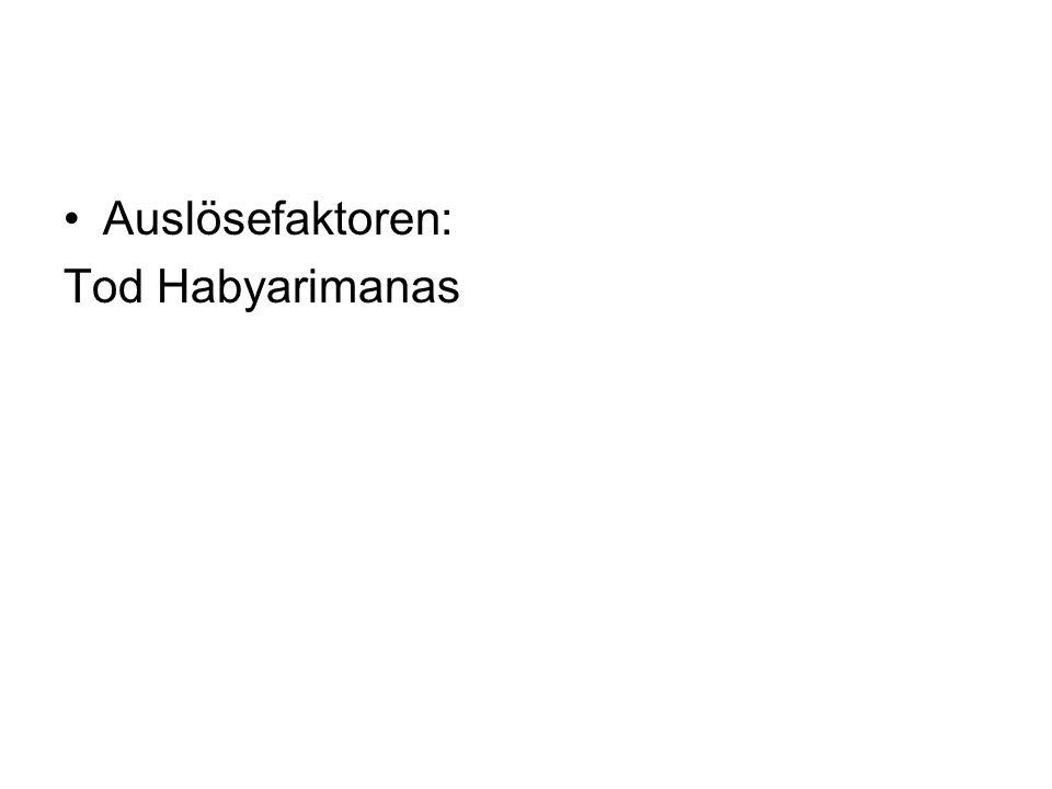 Auslösefaktoren: Tod Habyarimanas