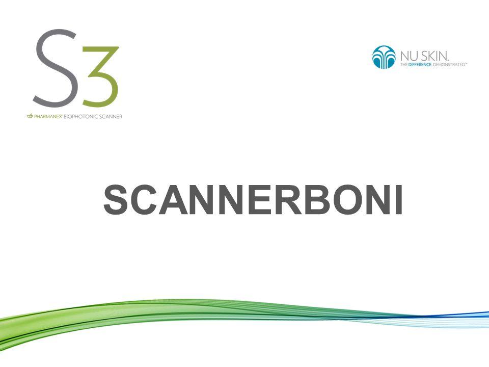 Scanner-Operator-Bonus Erstscanbonus: 10€ Der Scannerleasingnehmer erhält einen Erstscanbonus von 10€, wenn ein Kunde zum ersten Mal gescannt wird und sich für einen Scanner-ADR* anmeldet, der Hautcarotinoidwert (HCW) zertifizierte Produkte enthält.