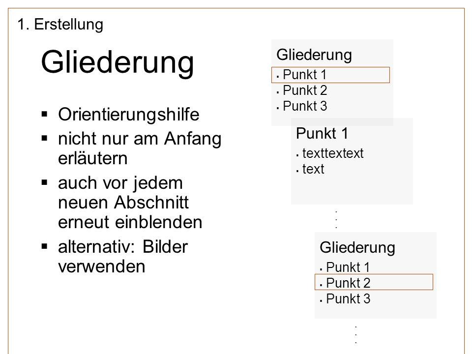 Qualitätskriterien für motivierende Charts 1/2 (nach Thiele, 2007, S.
