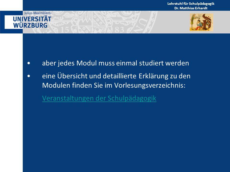 Fachstudienberatung der Schulpädagogik Dr.Matthias ErhardtDr.