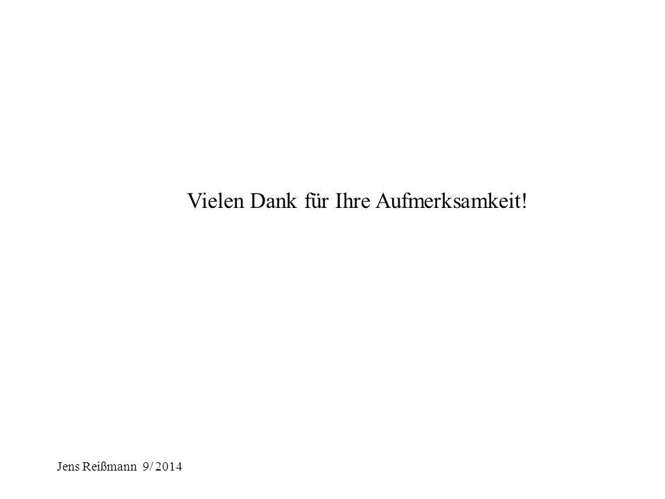 Jens Reißmann 9/ 2014 III. Kleines Resümee 1.Die Vorgabe bzw. Vereinbarung von klaren Zielen und die regelmäßige Überprüfung der Zielerreichung ist ei