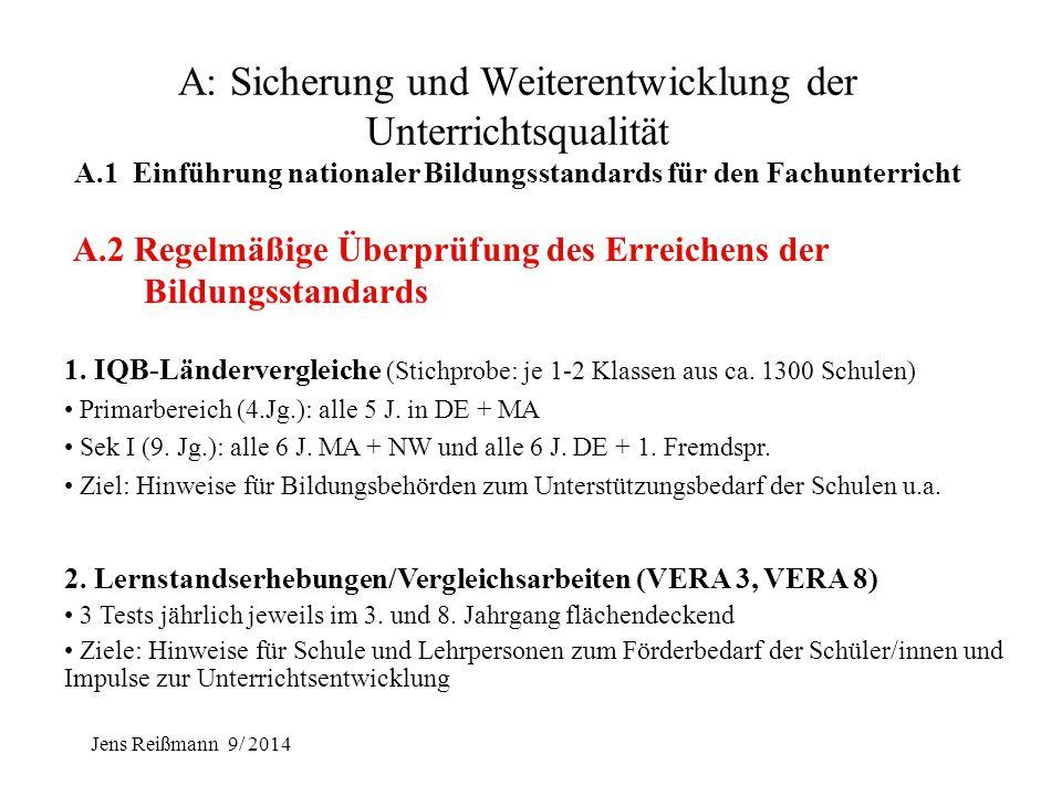 Jens Reißmann 9/ 2014 Beispiele für Bildungsstandards DEUTSCH: Grundschule (Auszug) Kompetenzbereich Lesen - mit Texten und Medien umgehen: über Lesef