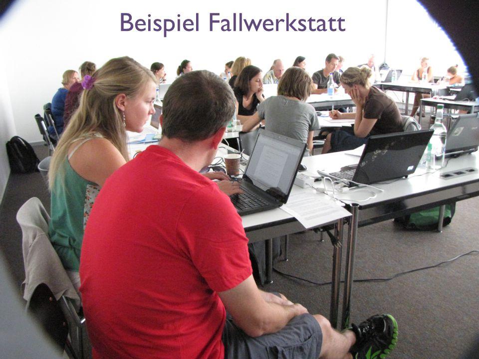 Interne Fortbildung zum didaktischen Ansatz «Schlüsselsituation», FH Münster, 8.9.2014, Regula Kunz Beispiel Fallwerkstatt