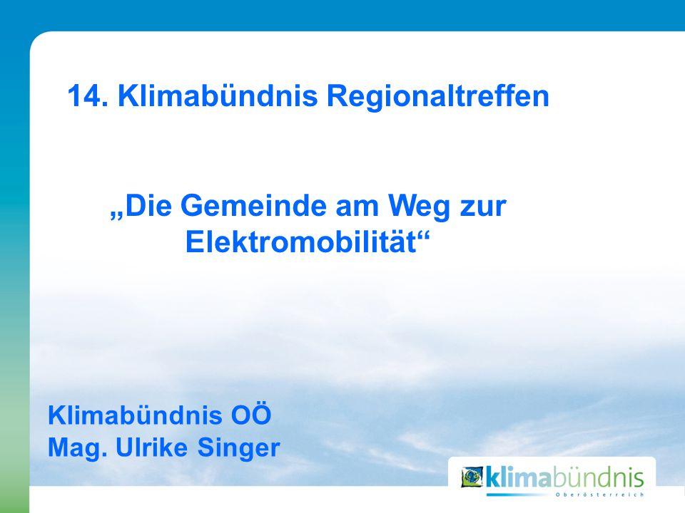 Klimabündnis OÖ Mag. Ulrike Singer 14.