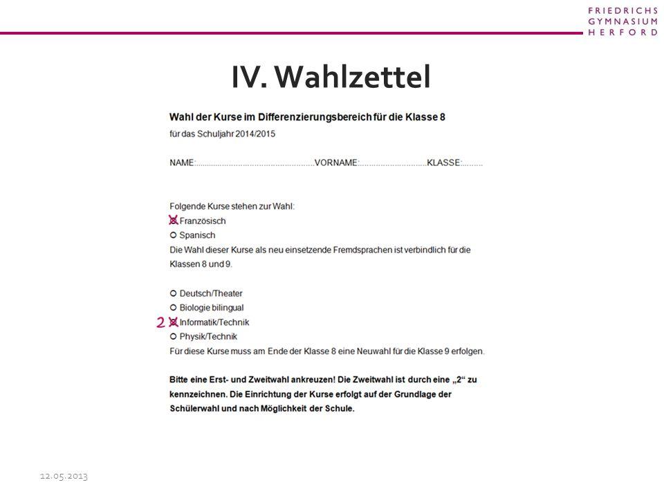 IV. Wahlzettel 12.05.2013