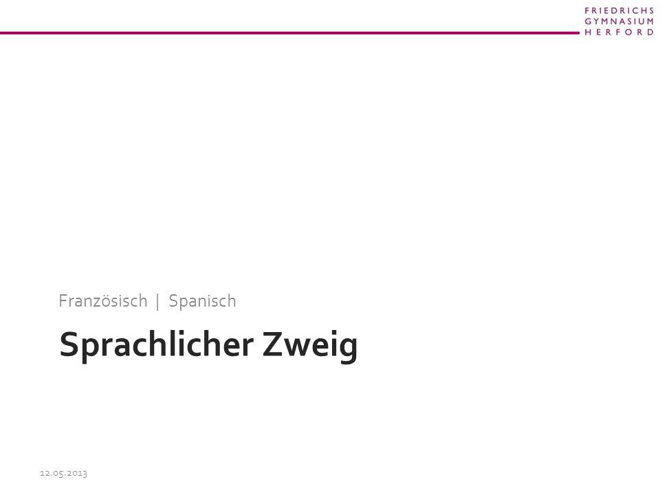 Sprachlicher Zweig Französisch | Spanisch 12.05.2013