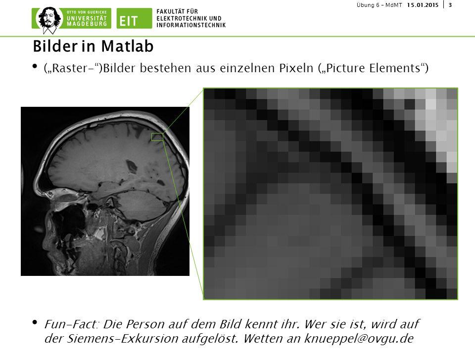 """315.01.2015Übung 6 - MdMT (""""Raster- )Bilder bestehen aus einzelnen Pixeln (""""Picture Elements ) Fun-Fact: Die Person auf dem Bild kennt ihr."""