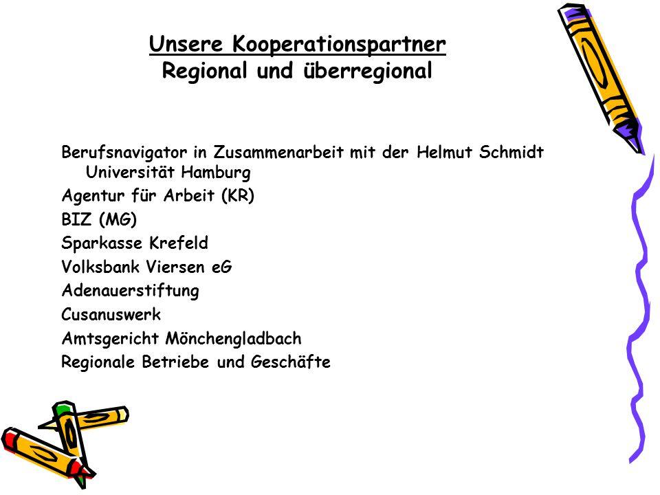 Unsere Kooperationspartner Regional und überregional Berufsnavigator in Zusammenarbeit mit der Helmut Schmidt Universität Hamburg Agentur für Arbeit (