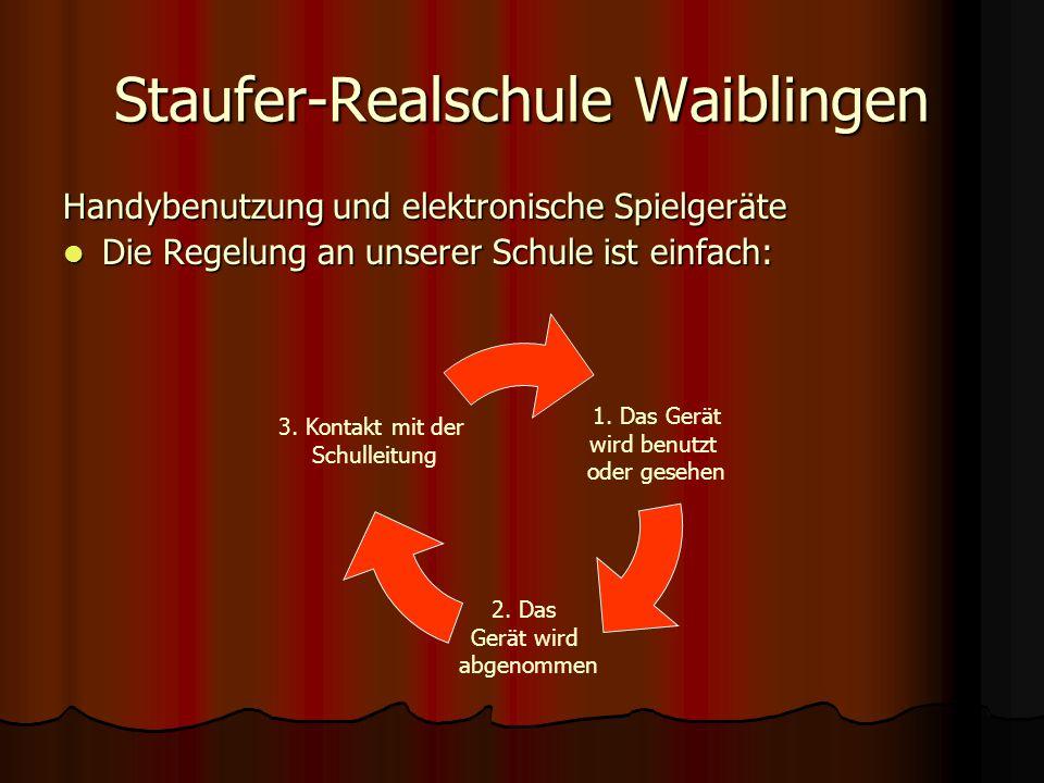 Handybenutzung und elektronische Spielgeräte Die Regelung an unserer Schule ist einfach: Die Regelung an unserer Schule ist einfach: 1.
