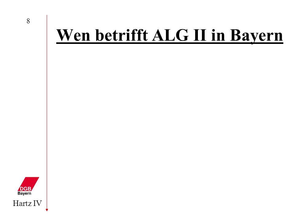 Hartz IV 8 Wen betrifft ALG II in Bayern