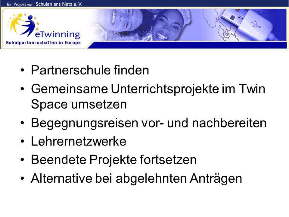 """eTwinning ergänzt Comenius """"Doppelt hält besser!"""" Partnerschule finden Gemeinsame Unterrichtsprojekte im Twin Space umsetzen Begegnungsreisen vor- und"""
