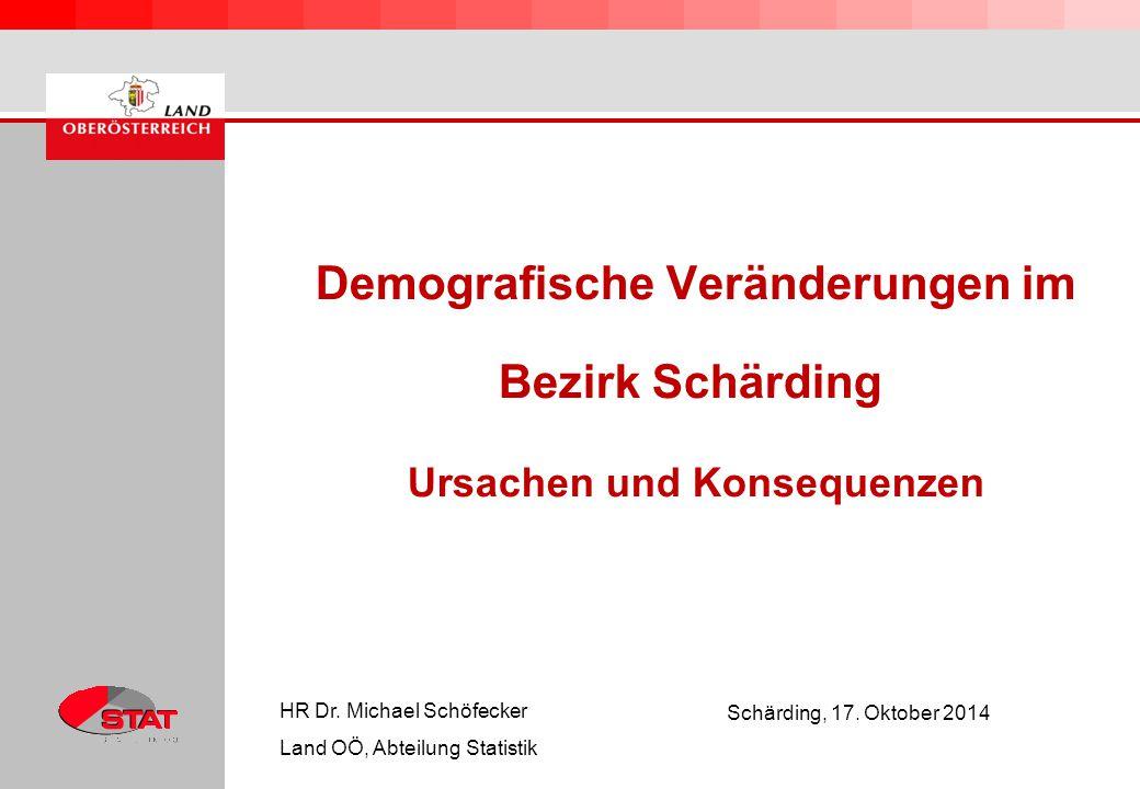 Demografische Veränderungen im Bezirk Schärding Ursachen und Konsequenzen HR Dr.