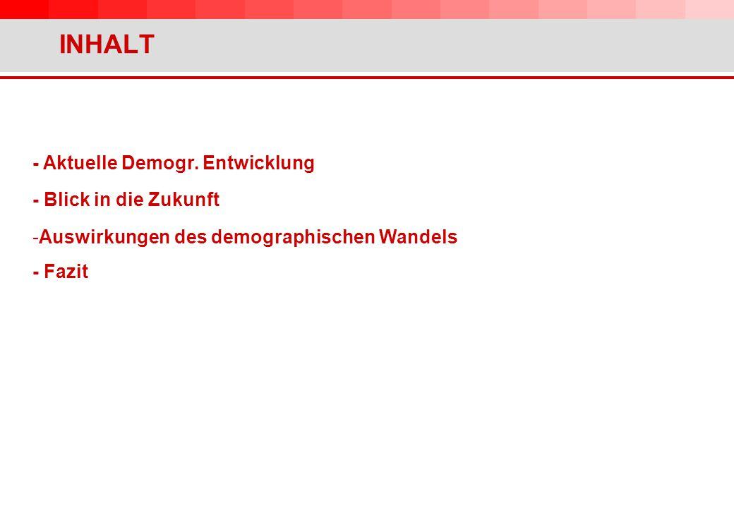INHALT - Aktuelle Demogr.