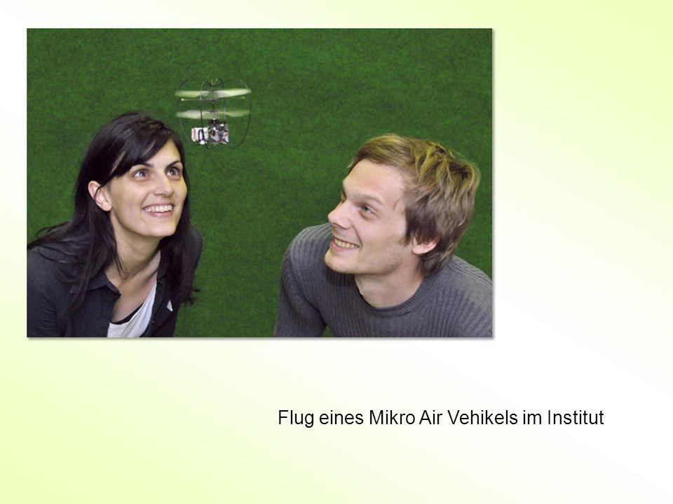 Flug eines Mikro Air Vehikels im Institut