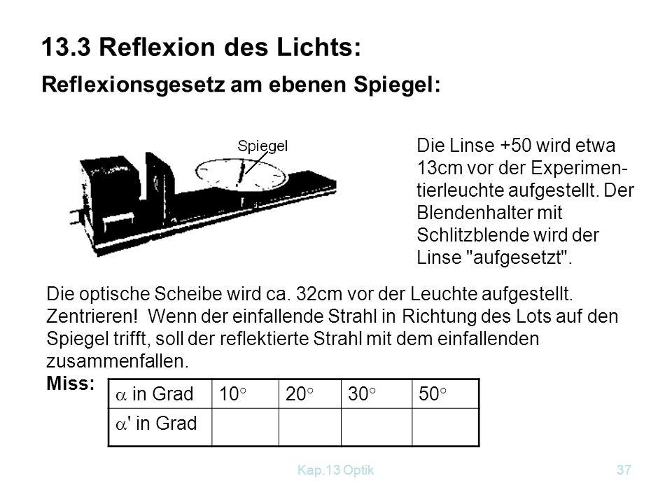 Kap.13 Optik36 4.Sonnen- und Mondfinsternis: Versuch: Vgl.: Buch S.