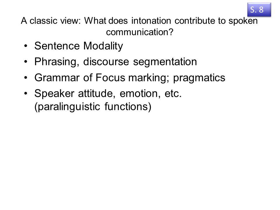 12. Intonation in Australian languages Vorlesung 12 Welche Eigenschaften sollten beru ̈ cksichtigt werden, wenn eine unbekannte Sprache zum ersten Mal