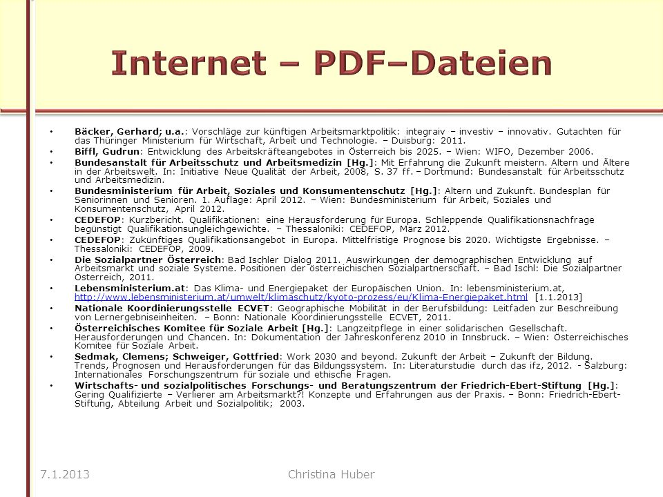Bäcker, Gerhard; u.a.: Vorschläge zur künftigen Arbeitsmarktpolitik: integraiv – investiv – innovativ.