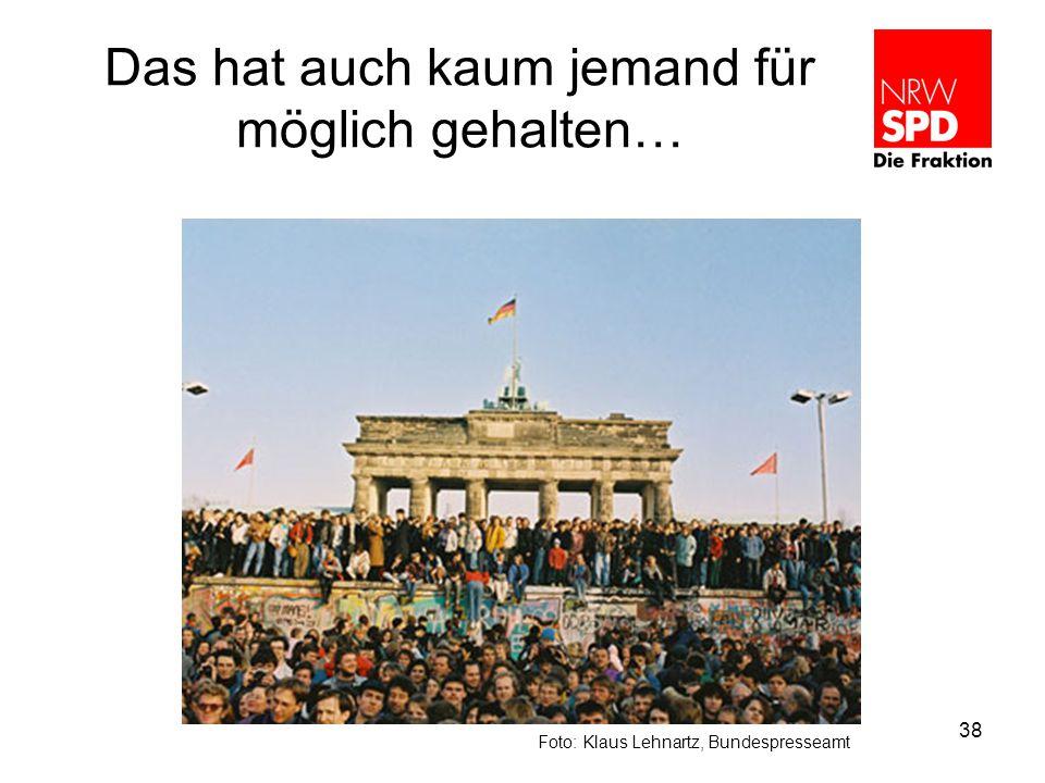 Das hat auch kaum jemand für möglich gehalten… Foto: Klaus Lehnartz, Bundespresseamt 38