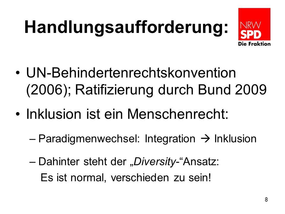 Grundsätzliches In NRW leben rund 2,7 Mio.Menschen mit Behinderung, davon 1,7 Mio.